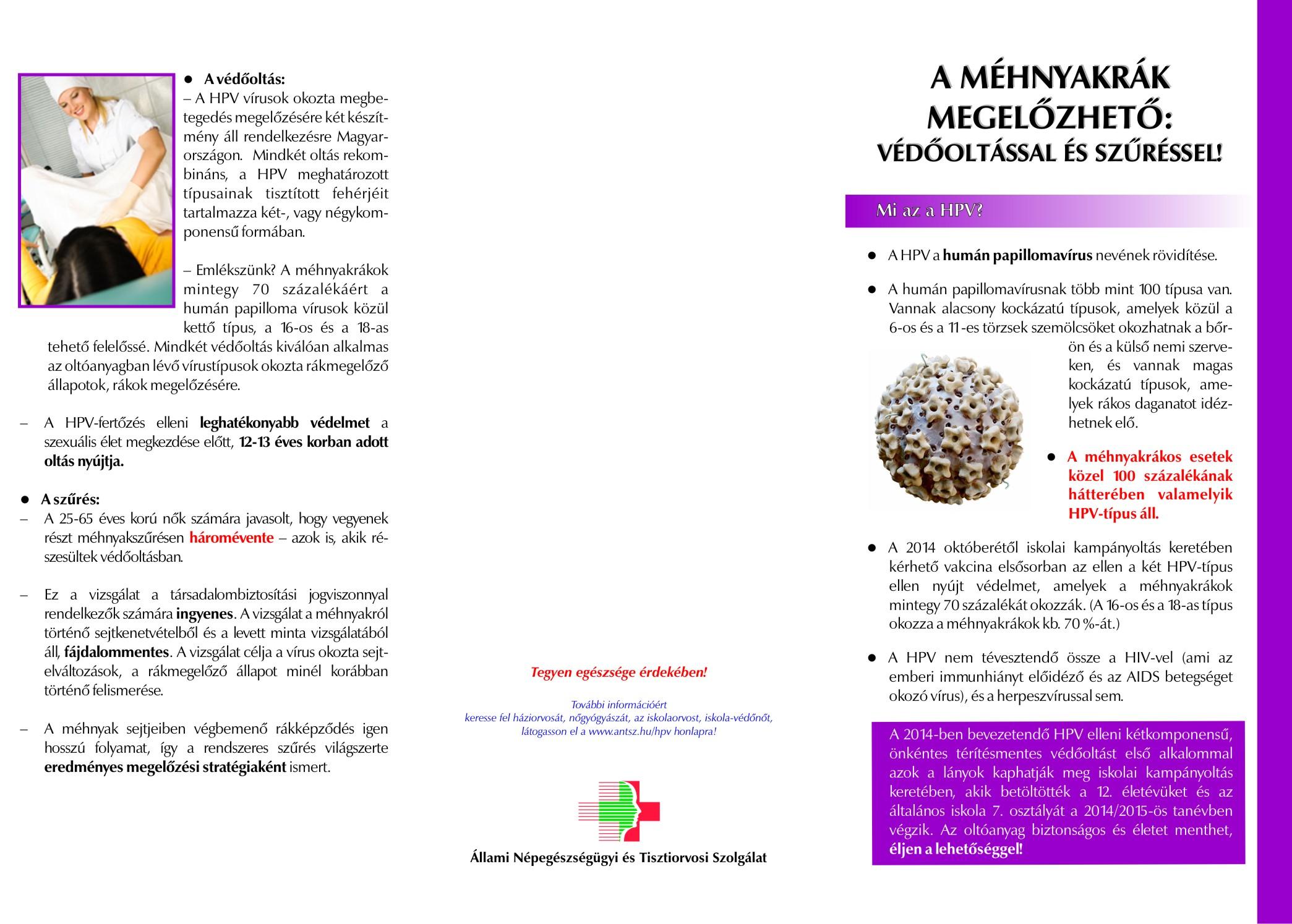Papillomavírus vakcina ember mellékhatásai. Mekkora a veszély?