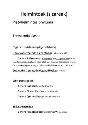 helmintusok helminthiasis)