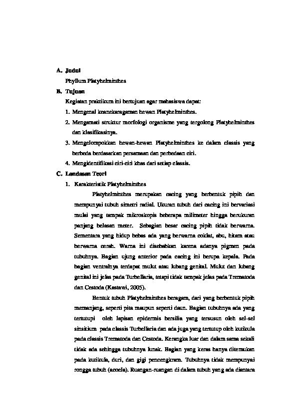 Fergie interview ellen - Laporan filum platyhelminthes